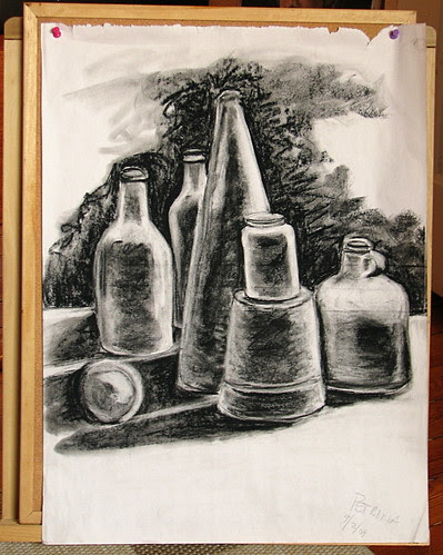 charcoal still  life