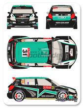 Calcas 1/24 Racing Decals 43 - Skoda Fabia S2000 New Zealand - Nº 31 - Paddon + Kennard - Rally de Portugal 2012 para kit de Belkits BEL-004