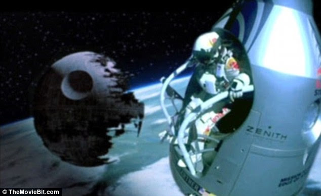 Evil empire: The Death Star from the Star Wars movies makes an appearance