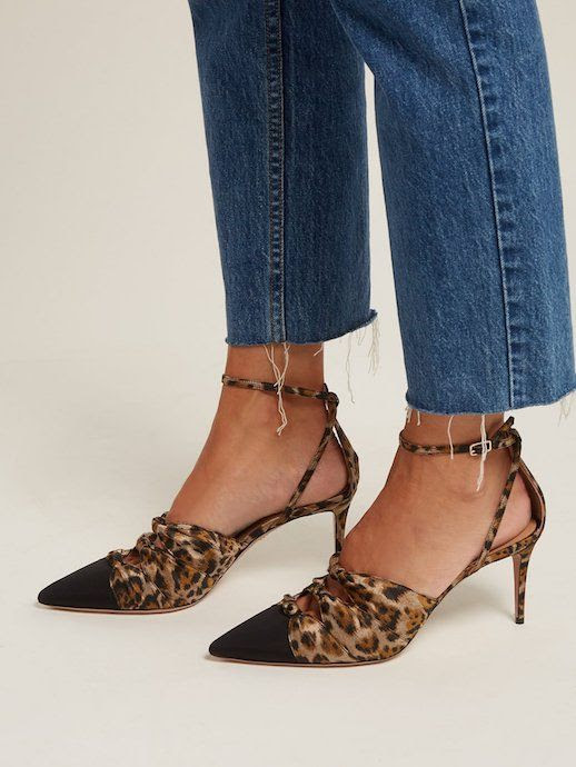 Le Fashion Blog Leopard Print Aquazzura Pump Fall Trends Frayed Denim Via Matches Fashion