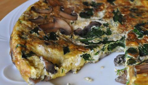 Mushroom-Spinach-Fritatta