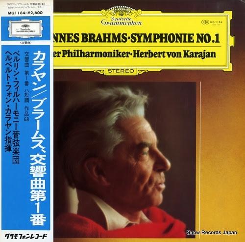 KARAJAN, HERBERT VON brahms; symphonie no.1