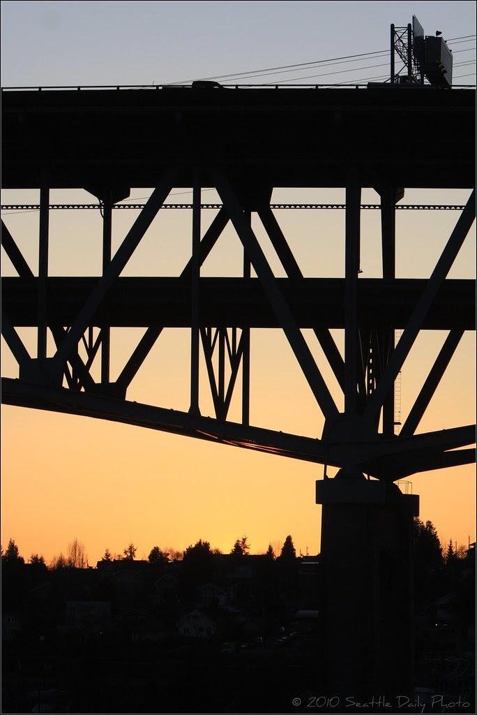 Skywatch Friday: Ship Canal Bridge Silhouette