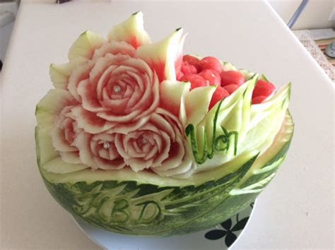 Watermelon Basket Carving ? Thai Creations