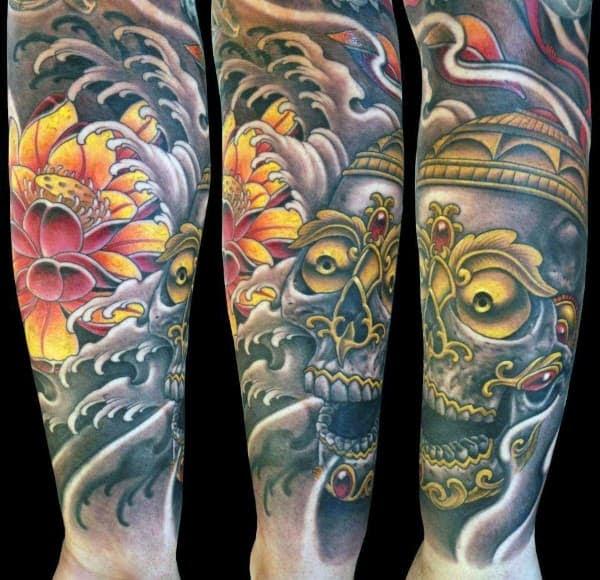 100 Lotus Flower Tattoo Designs For Men Cool Ink Ideas
