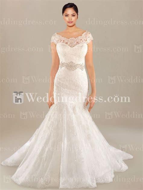 Drop Waist Plus Size Wedding Dress PS182   wedding