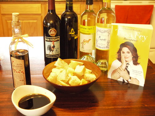 The wine, the snacks, the book...