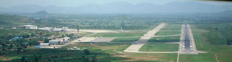 Short Finals into Nnamdi Azikiwe International Airport, Abuja, Nigeria