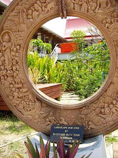 Memorial stone in the garden