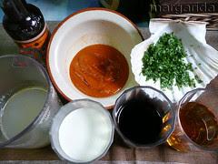 ingredientes para la salsa