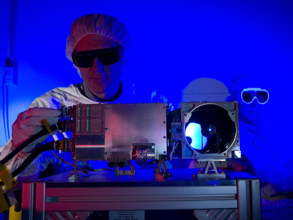 Researchers prepare for a test of the Chemistry and Camera