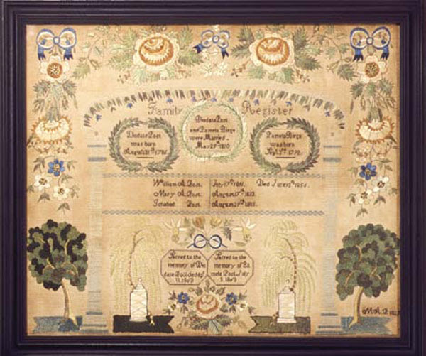 Mary Ann Post antique sampler from Carol & Stephen Huber