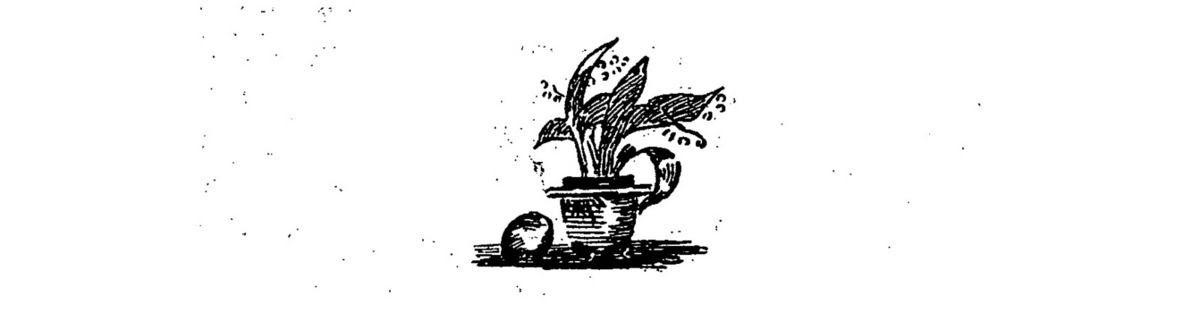 """Claire Demolder, vignette pour la revue """"Le Mercure de France"""", n°112, avril 1899, p.39, pour «Les Bacchantes» de A.-F. Hérold ; reprise notamment dans le n°117, septembre 1899, p.606, pour «Léonard de Vinci» de Walter Pater ; reprise également dans la table alphabétique, p.864."""