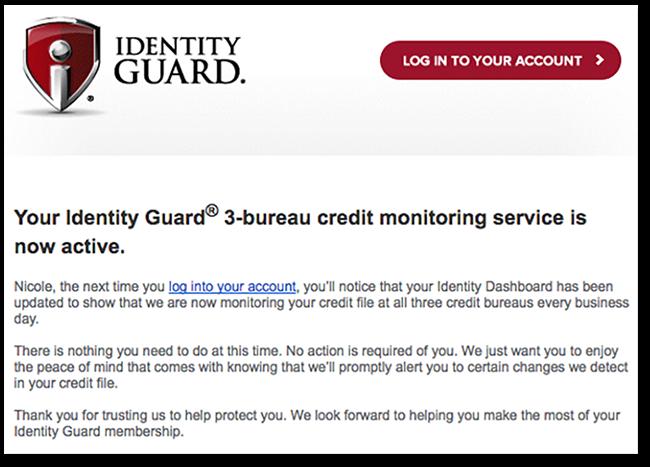 Adjusted Screenshot of IdentityGuard email