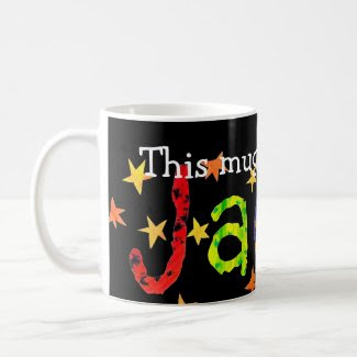 'This Mug belongs to Jacob' White Mug mug
