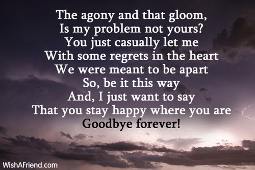 That Pain In Life Goodbye Love Poem