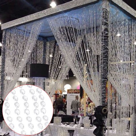 garland diamond strand acrylic bead crystal curtain