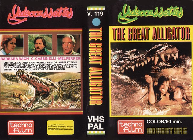 THE GREAT ALLIGATOR (VHS Box Art)