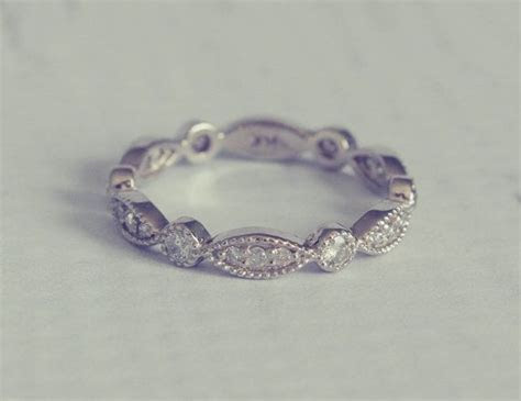 The Victoria: 1930's Style Diamond Pave Wedding Band