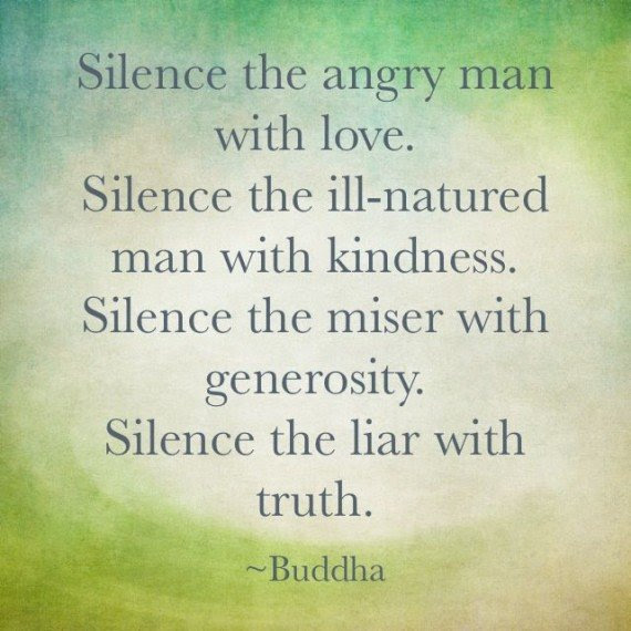 Silence The Angry Man With Love Silence The Ill Natured Man With
