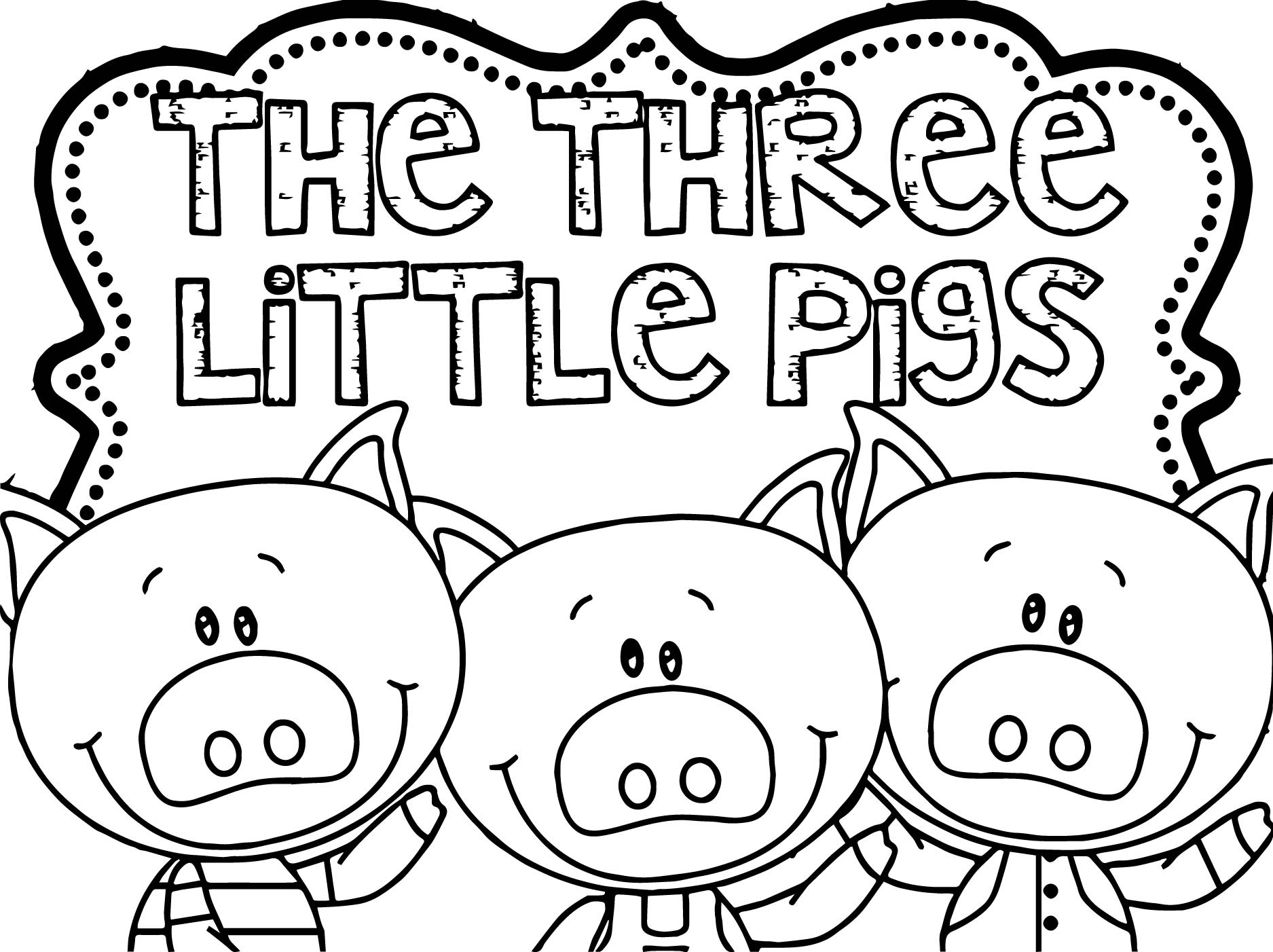 Three Little Pigs Coloring Page | Wecoloringpage.com