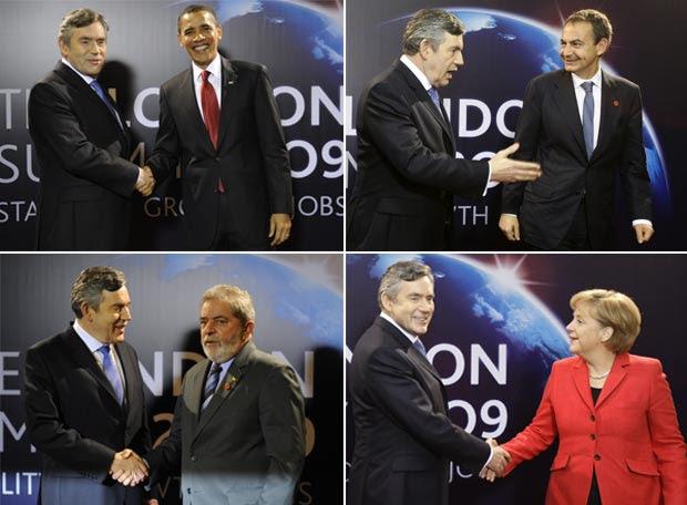Cumbre del G-20 - Brown da la bienvenida