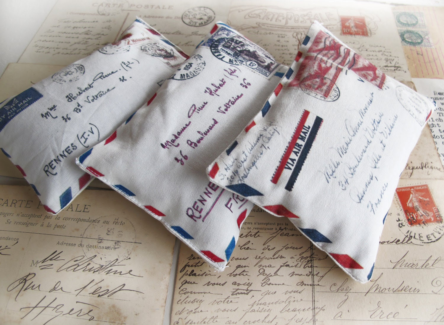 3 organic french lavender mini pillows french aeropostale letter