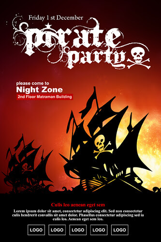 Pirate Party Poster Party Poster By The Great Designer