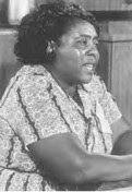 Fannie Lou Hammer (1917-1977) of Mississippi was a leader in the civil rights movement during the 1960s and 1970s. She worked with the Student Non-Violent Coordinating Committee and the Freedom Democratic Party. by Pan-African News Wire File Photos