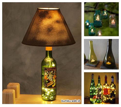 Gambar terkait Tempat Lilin Meja. Cara Membuat Lampu Dari Botol Kaca. Anggi  Yudi Chemical Engineering Kreasi Dari Bahan Bekas ... a4cf236720