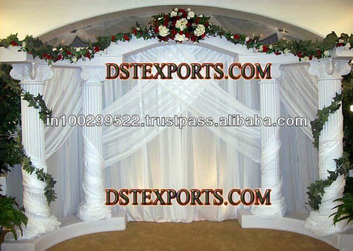 best white wedding stages
