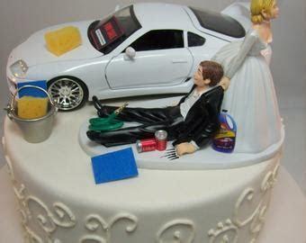 AUTO MECHANIC Bride & Groom BMW Series 3 m3 Wedding Cake