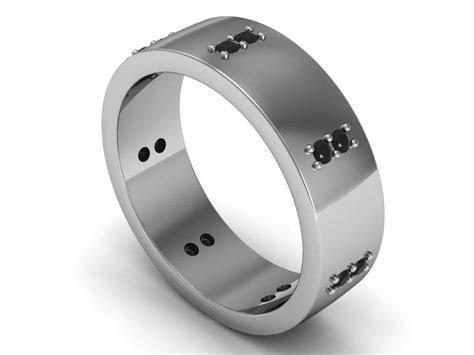 Black Tungsten Rings With Diamonds   Les Baux de Provence