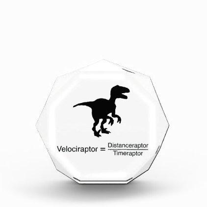 velociraptor funny science award
