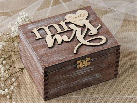 Mr & Mrs Ring Box for ceremony   Wedding Ideas   Heart