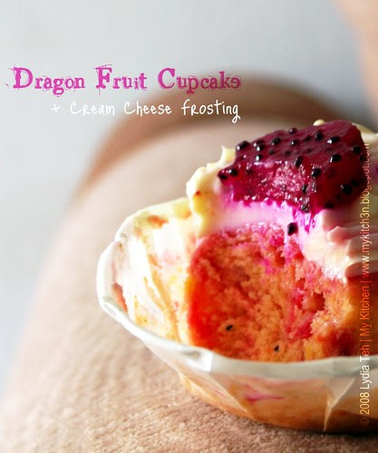 Dragon Fruit Cupcake