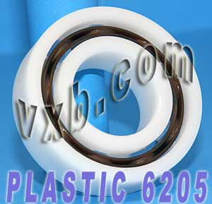 POM 6205 Plastic Radial With Glass Bearing 25x52x15:vxb:Ball Bearing