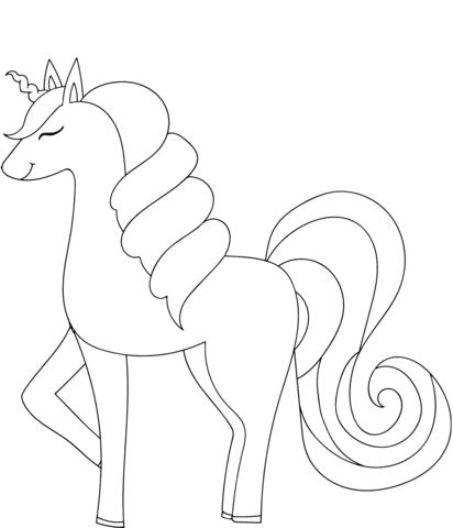 Dibujo De Unicornio Para Colorear Dibujos Para Colorear Imprimir