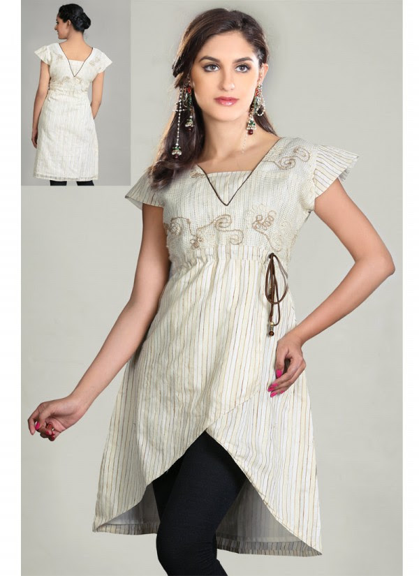 Indian-Trendy-Style-Tunic-Kurti-Designs-2013-Indian-Tunic-Kurti's-Fashionable-Dress-9