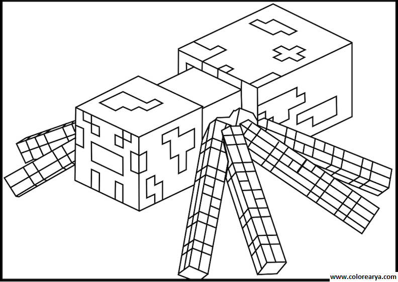 minecraft baby pig coloring pages | Free coloring pages of minecraft | Printable Coloring Pages