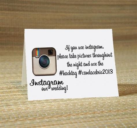 Instagram My Wedding Hashtag Cards  Wedding Calligraphy