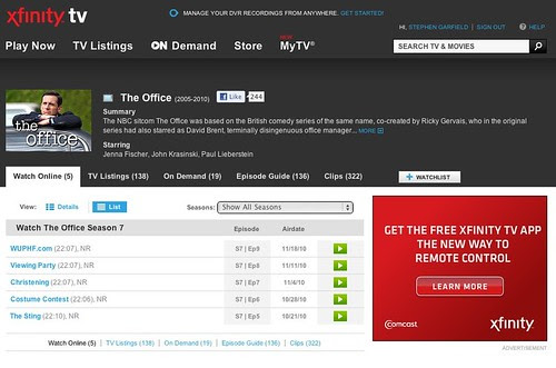 xfinity.tv The Office - Season 7 Episodes 5-9