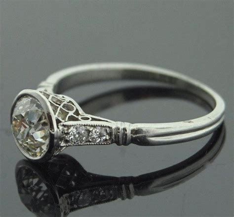 1920s Engagement Ring   Platinum and Diamond Ring