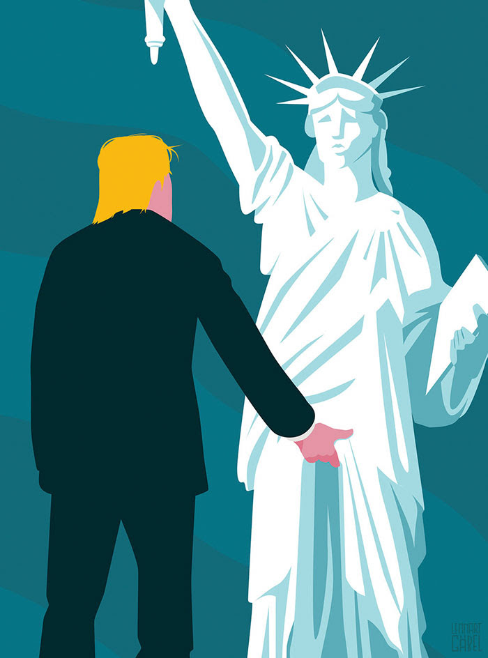Bildergebnis für Donald Trump and Lady Liberty