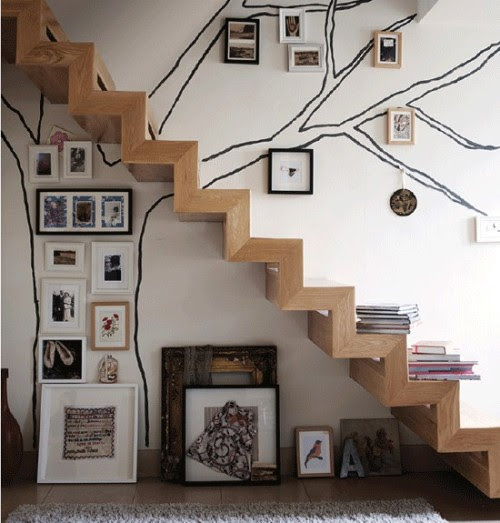 stairs with frames