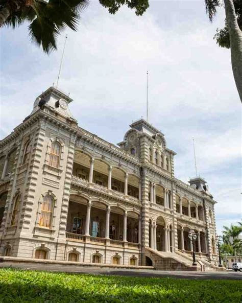 The only true castle on American soil, Iolani Palace was