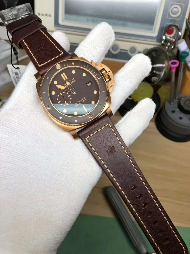 PAM 968 with Brown Strap