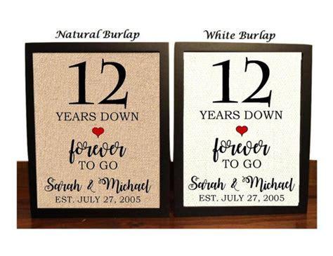 12th Anniversary Gift 12th Wedding Anniversary Gift Gift