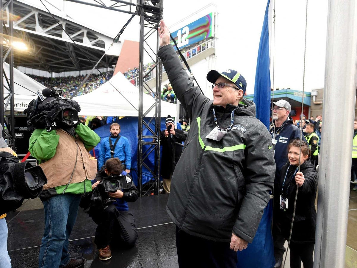 Sports are a major passion of Allen's — he's a part owner of the Seattle Sounders, and he bought the Portland Trail Blazers in 1988 and the Seattle Seahawks in 1997.