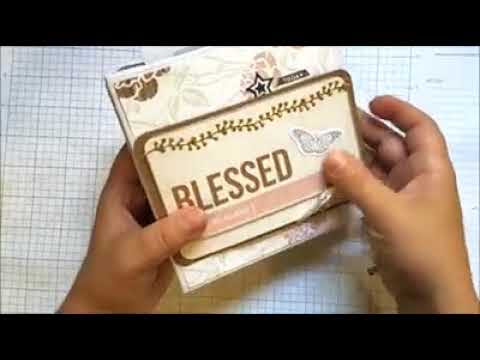 Blushing Blessings Mini Album (Video Tutorial)